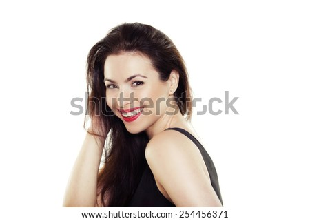 Portrait of a beautiful smiling girl - stock photo
