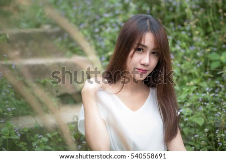 Portrait of a beautiful teenage asian girl