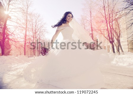 Portrait of a beautiful wife - stock photo