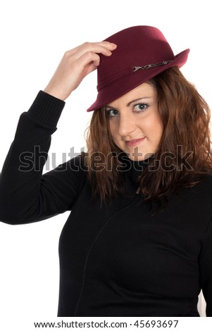 portrait of a beautiful woman in a hat