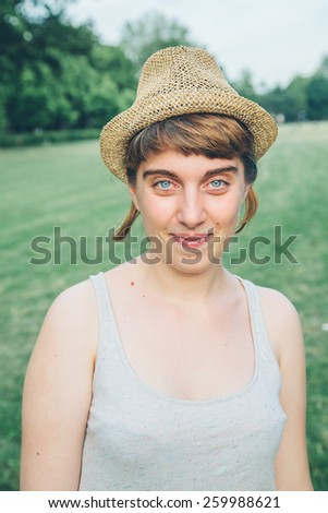 Portrait of a beautiful 20 year old girl  - stock photo