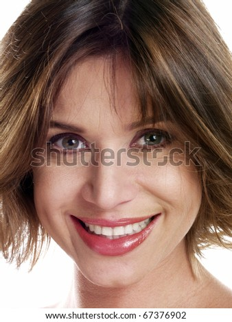 Portrait of a beautiful young latin woman on white background.