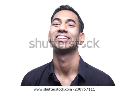 Portrait of a beautiful young man - stock photo