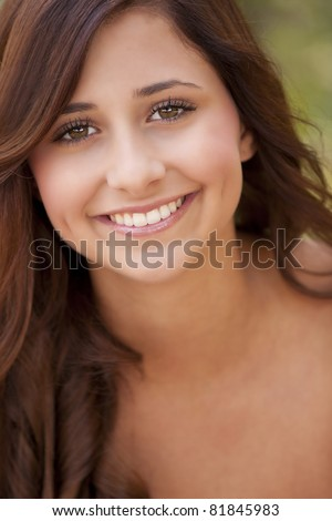 portrait of a beautiful young teenage girl