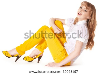 Portrait of a beautiful young teenager. - stock photo