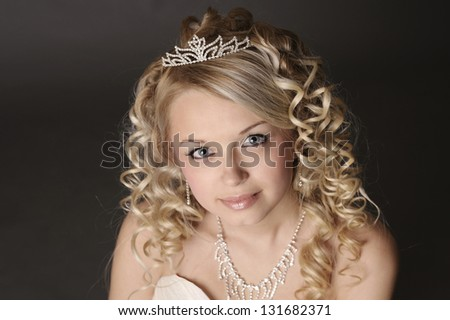 Portrait of a beautiful young woman dressed as a bride.
