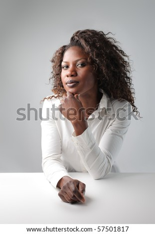 portrait of a black woman - stock photo