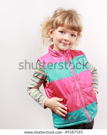 portrait of a blond little girl