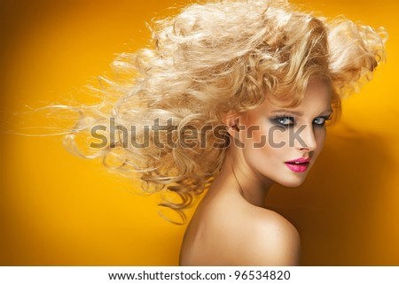 Portrait of a bond beauty - stock photo