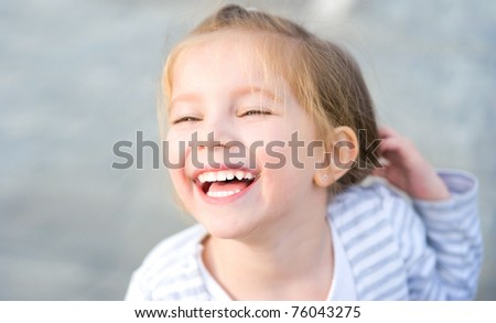 Portrait of a boy. Isolated on a white background - stock photo