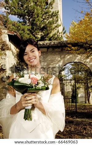 Portrait of a bride - stock photo