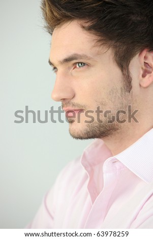 Portrait of a brown-haired man - stock photo