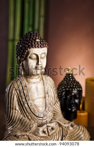 Portrait of a buddha statue