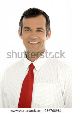 Portrait of a business executive officer - stock photo