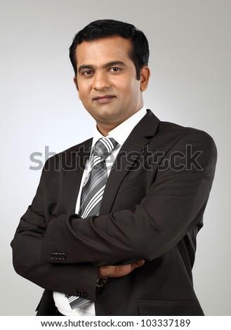 Portrait of a business man - stock photo
