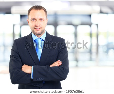 Portrait of a business man  - stock photo