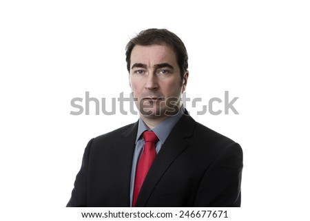 portrait of a business man shot in the studio - stock photo