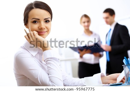 Portrait of a business woman in office environment