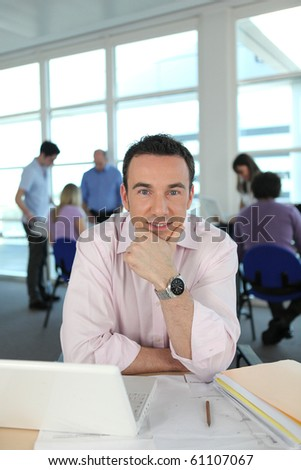 Portrait of a businessman - stock photo