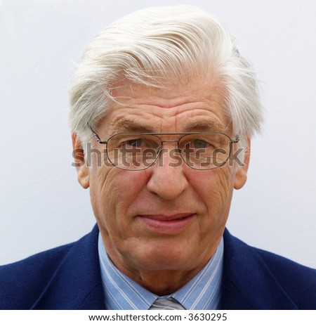 Portrait of a businessman for a passport or identity tag
