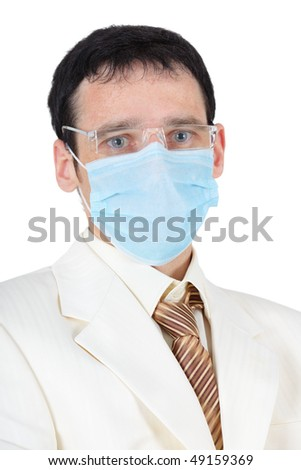 Portrait of a businessman in the medical mask