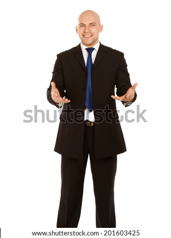 Portrait of a businessman, isolated on white background - stock photo