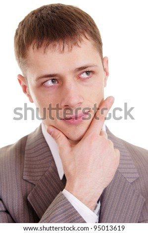 portrait of a businessman on white background