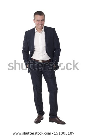 Portrait of a businessman.Studio shot - stock photo