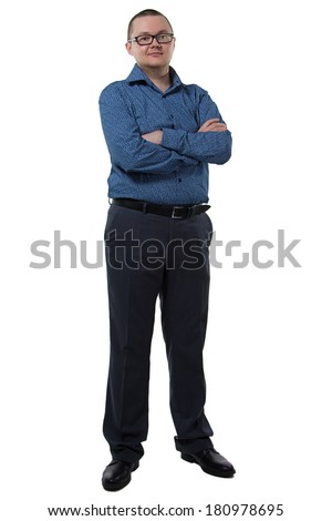 Portrait of a businessman with beard - isolated photo portrait