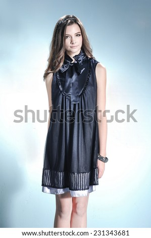 portrait of a casual young fashion model posing  - stock photo
