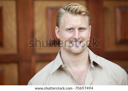 Portrait of a caucasian businessman - stock photo