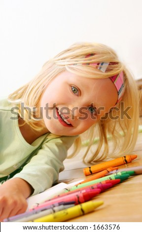 Portrait of a child - stock photo