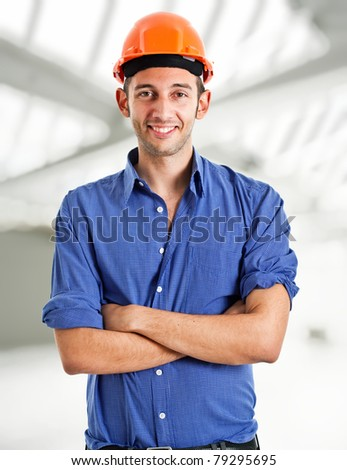 Portrait of a confident architect - stock photo