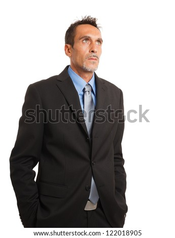 Portrait of a confident businessman. Isolated on white