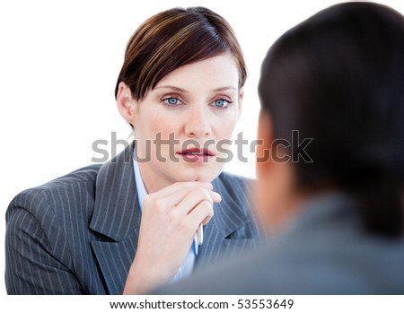 Portrait of a confident businesswoman in the office - stock photo