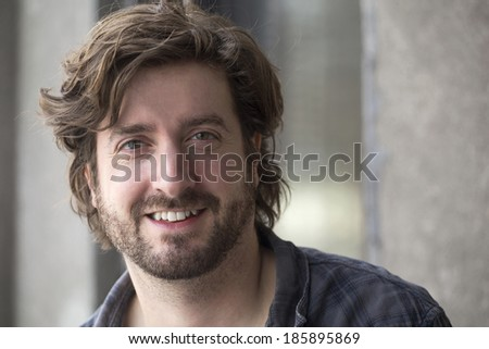 portrait of a confident casual man - stock photo