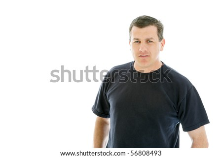 Portrait of a confident man casually dressed - stock photo
