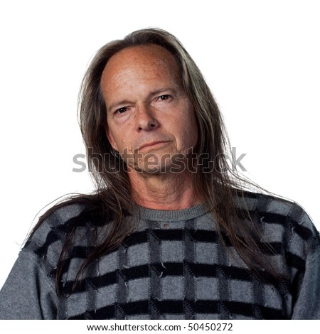 Portrait of a confident native american man - stock photo