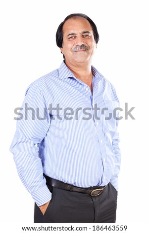 portrait of a confident senior businessman isolated on white