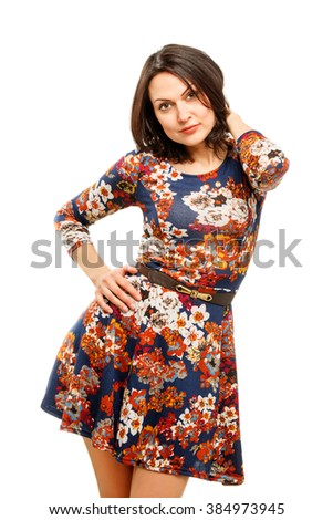 Portrait of a confident young business woman - stock photo