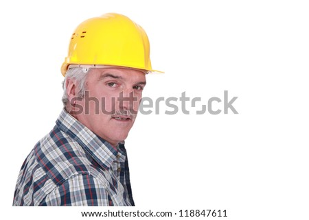 Portrait of a construction foreman - stock photo