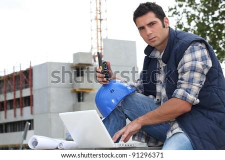 Portrait of a construction foreman - stock photo