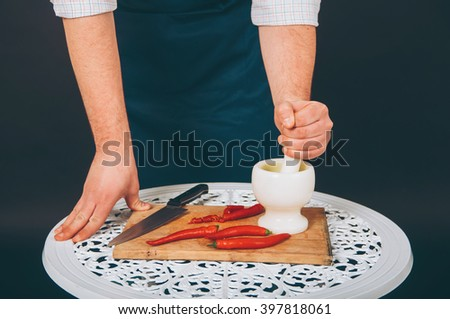 Portrait of a cook - stock photo