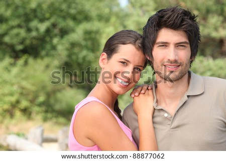 Portrait of a couple enjoying a day outdoors together