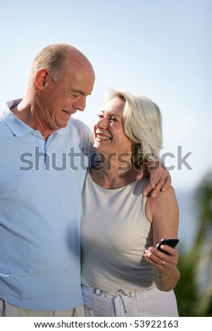 Portrait of a couple of smiling seniors