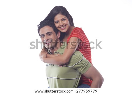 Portrait of a couple smiling - stock photo