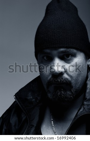 Portrait of a Criminal mobster - stock photo