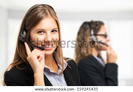 Portrait of a customer representative at work - stock photo