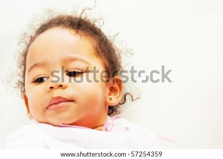 Portrait of a cute african tot - stock photo