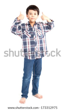 portrait of a cute boy isolated on white background